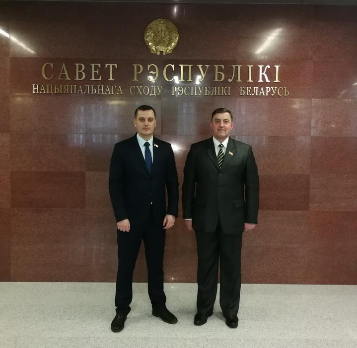 с коллегой Власевичем В.Э. в Совете Республики