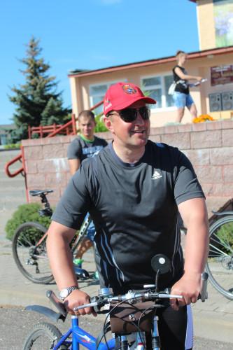 на велопробеге по Ошмянскому району
