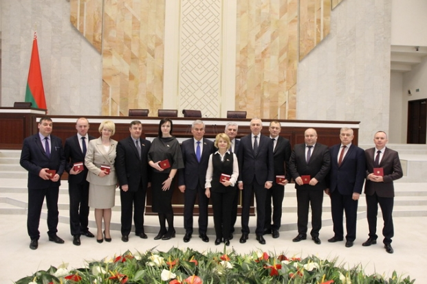 депутаты Гродненской области седьмого созыва с руководством Палаты представителей