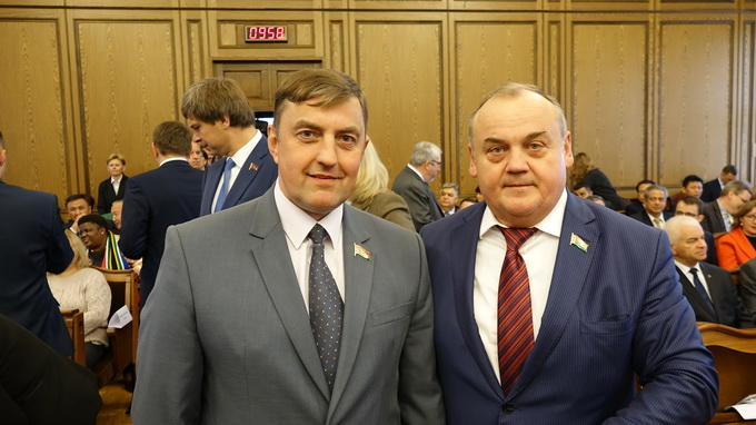 с депутатом, заместителем председателя Минского облисполкома Маркевичем И.С.