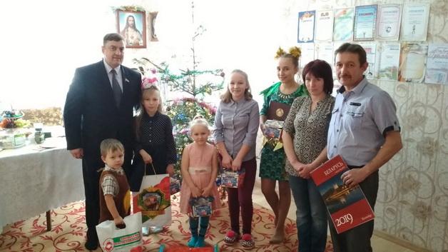 поздравление многодетных семей Вороновоского района с Новым годом